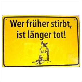 Albatros Ortsschild mit Spruch Wer frher...