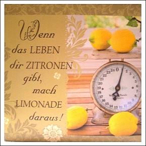 Geschirrtuch Wenn das Leben dir Zitronen gibt