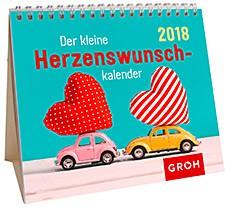 Groh Mini-Kalender 2018 zum Aufstellen Herzenswunschkalender