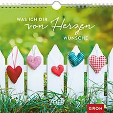 Groh Wandkalender 2018 von Herzen