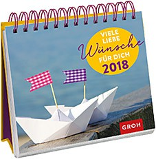 Groh Bunter Wochenkalender 2018 Viele liebe Wünsche
