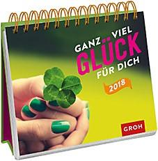 Groh Bunter Wochenkalender 2018 Glück für dich