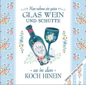 Cook Shop Geschirrtuch Man nehme ein gutes Glas Wein…
