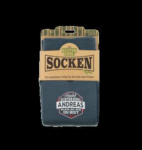 History & Heraldry Design Bambus Socken mit Name: Andreas    - für Männer Herren 39 - 45 / atmungsaktiv, antibakteriell und umweltfreundlich - Geschenk - individuell mit Namen und Spruch