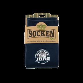 History & Heraldry Design Bambus Socken mit Name: Jörg    - für Männer Herren 39 - 45 / atmungsaktiv, antibakteriell und umweltfreundlich - Geschenk - individuell mit Namen und Spruch