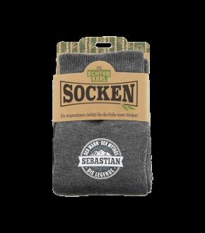 History & Heraldry Design Bambus Socken mit Name: Sebastian    - für Männer Herren 39 - 45 / atmungsaktiv, antibakteriell und umweltfreundlich - Geschenk - individuell mit Namen und Spruch