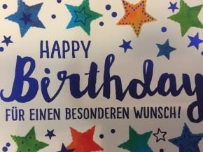 WUNSCHERFÜLLER Soundbox 1 Stück Happy Birthday Für einen besonderen...