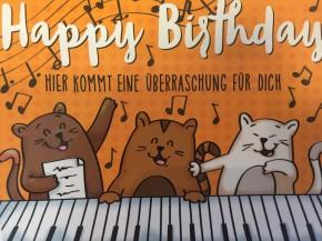 WUNSCHERFÜLLER Soundbox 1 Stück Happy Birthday Hier kommt eine Über...