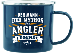H&H Echter Kerl Emaille Becher fuer den Angler
