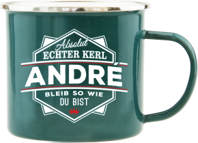 H&H Echter Kerl Emaille Becher André