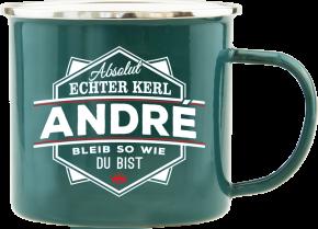 H&H Echter Kerl Emaille Becher André