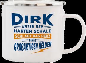 H&H Echter Kerl Emaille Becher Dirk