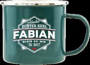 H&H Echter Kerl Emaille Becher Fabian