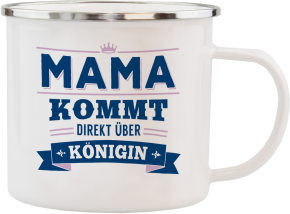 H&H Echter Kerl Emaille Becher fuer die Mama
