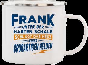 H&H Echter Kerl Emaille Becher Frank