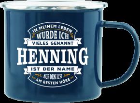 H&H Echter Kerl Emaille Becher Henning