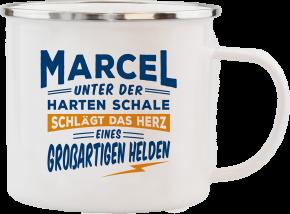 H&H Echter Kerl Emaille Becher Marcel