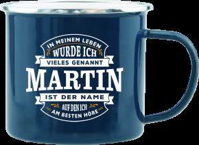H&H Echter Kerl Emaille Becher Martin
