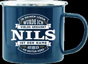 H&H Echter Kerl Emaille Becher Nils
