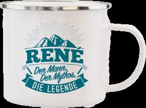 H&H Echter Kerl Emaille Becher René