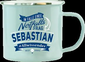 H&H Echter Kerl Emaille Becher Sebastian