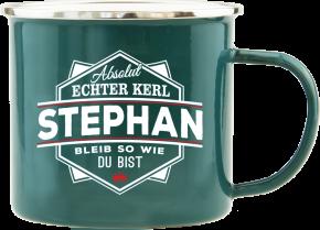 H&H Echter Kerl Emaille Becher Stephan