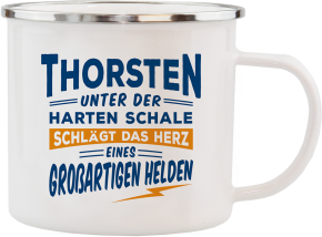 H&H Echter Kerl Emaille Becher Thorsten