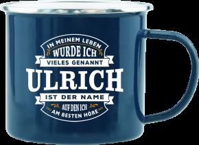 H&H Echter Kerl Emaille Becher Ulrich