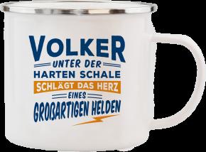 H&H Echter Kerl Emaille Becher Volker