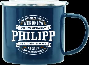 H&H Echter Kerl Emaille Becher Philipp