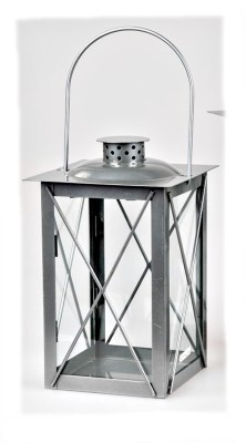 Laterne 17x30cm klassisches Design aus lackiertem Eisen