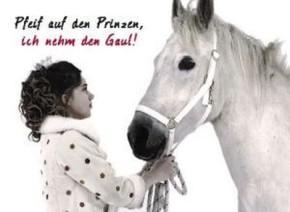 Postkarten mit Sprüchen Undercover 034e Pfeif auf den Prinzen, ich nehm den Gaul