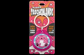 Super Taschenlampe mit Titel: Charakter Katze - Schluessel Anhaenger auch fuer Schulranzen - als Geschenk - individuell mit Namen und Spruch