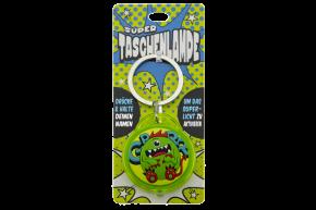 Super Taschenlampe mit Titel: Charakter Monster  - Schluessel Anhaenger auch fuer Schulranzen - als Geschenk - individuell mit Namen und Spruch