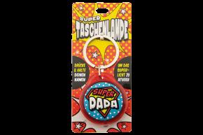 Super Taschenlampe mit Titel: Super Papa - Schluessel Anhaenger auch fuer Schulranzen - als Geschenk - individuell mit Namen und Spruch