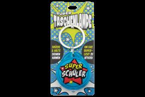 Super Taschenlampe mit Titel: Super Schüler- Schluessel Anhaenger auch fuer Schulranzen - als Geschenk - individuell mit Namen und Spruch
