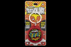 Super Taschenlampe mit Titel: Kleiner Teufel- Schluessel Anhaenger auch fuer Schulranzen - als Geschenk - individuell mit Namen und Spruch