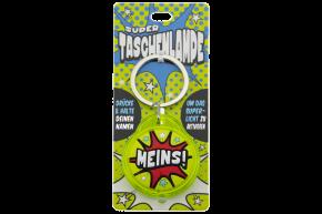 Super Taschenlampe mit Titel: Meins! - Schluessel Anhaenger auch fuer Schulranzen - als Geschenk - individuell mit Namen und Spruch