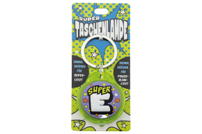 Super Taschenlampe mit Buchstabe: E - Schluessel Anhaenger auch fuer Schulranzen - als Geschenk - individuell mit Namen, Buchstabe oder Spruch