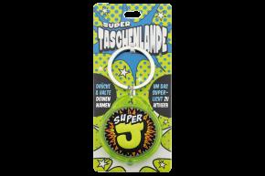 Super Taschenlampe mit Buchstabe: J - Schluessel Anhaenger auch fuer Schulranzen - als Geschenk - individuell mit Namen, Buchstabe oder Spruch