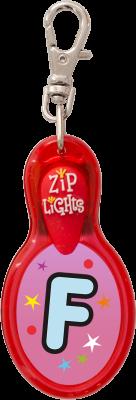 John Hinde Zip Light mit Buchstabe F