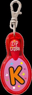 John Hinde Zip Light mit Buchstabe K