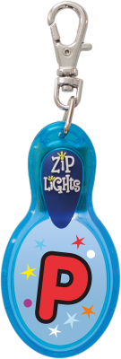 John Hinde Zip Light mit Buchstabe P