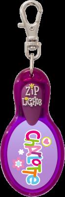 John Hinde Zip Light mit Namen Charlotte