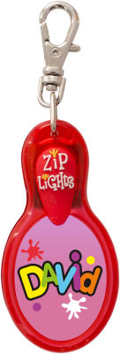 John Hinde Zip Light mit Namen David