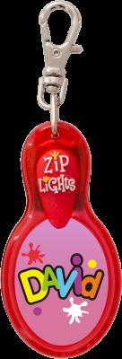 John Hinde Zip Light mit Namen David
