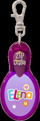 John Hinde Zip Light mit Namen Elena