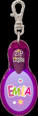 John Hinde Zip Light mit Namen Emilia