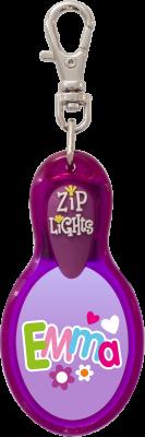 John Hinde Zip Light mit Namen Emma