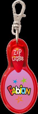 John Hinde Zip Light mit Namen Fabian